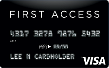 First Access Solid Black VISA® Credit Card