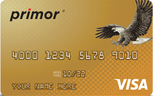 Green Dot primor® Secured Visa Gold Card