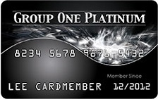 Group One Platinum Card